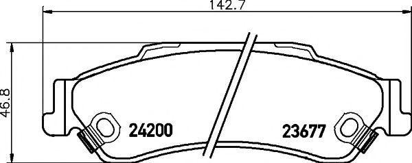 Колодки тормозные TEXTAR 2367701
