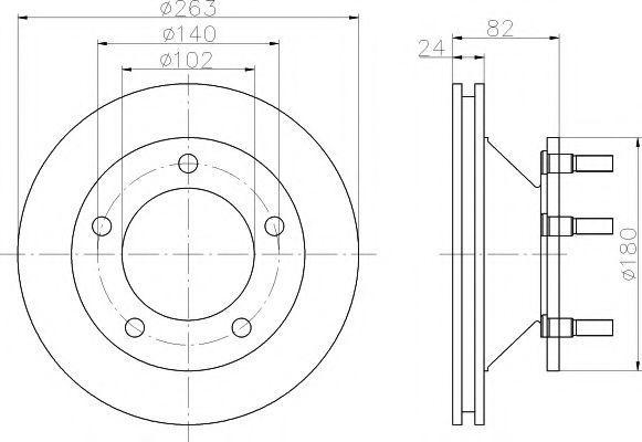 Тормозной диск TEXTAR 92087300