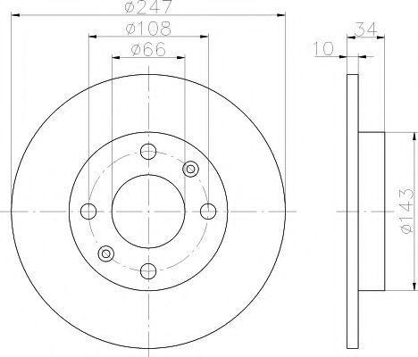 Диск тормозной TEXTAR 92029803