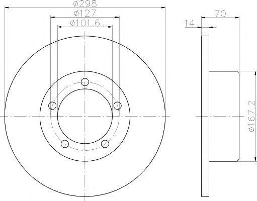 Диск тормозной TEXTAR 92040600
