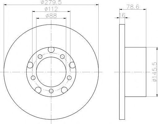 Диск тормозной TEXTAR 93012400