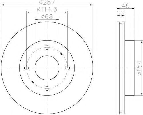 Диск тормозной TEXTAR 92056300