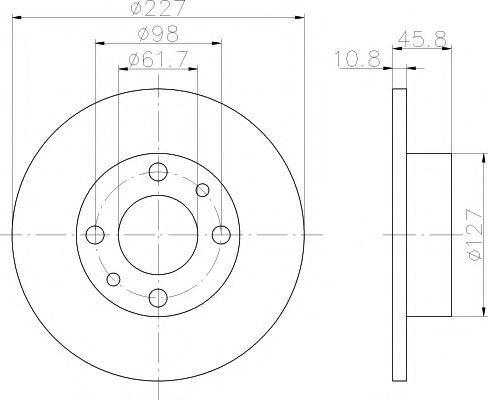 Диск тормозной TEXTAR 92019300