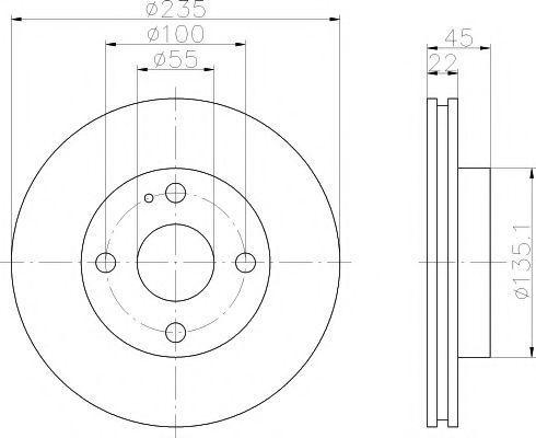 Диск тормозной TEXTAR 92071500