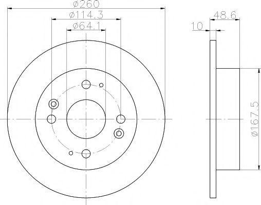 Диск тормозной TEXTAR 92081700