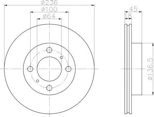 Диск тормозной TEXTAR 92089400
