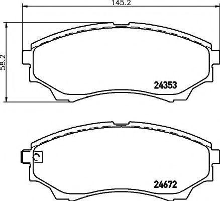 Колодки тормозные TEXTAR 2435301