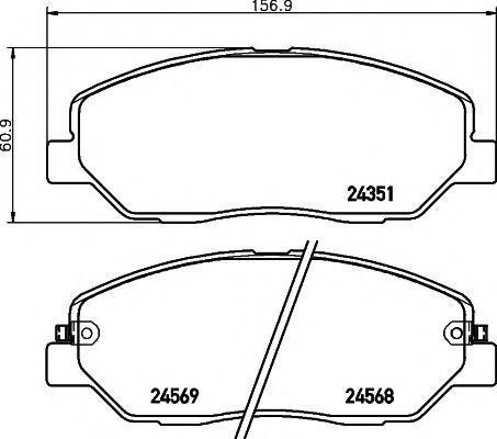 Колодки тормозные TEXTAR 2435101