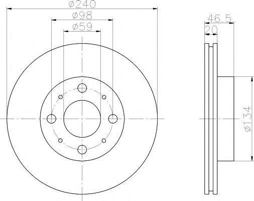 Диск тормозной TEXTAR 92090300