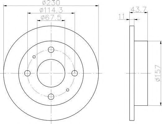 Тормозной диск TEXTAR 92102800