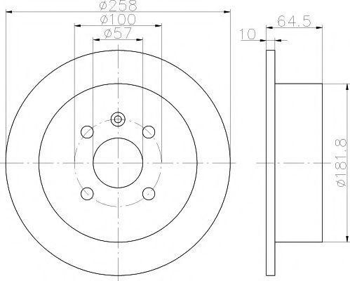 Диск тормозной TEXTAR 92129000