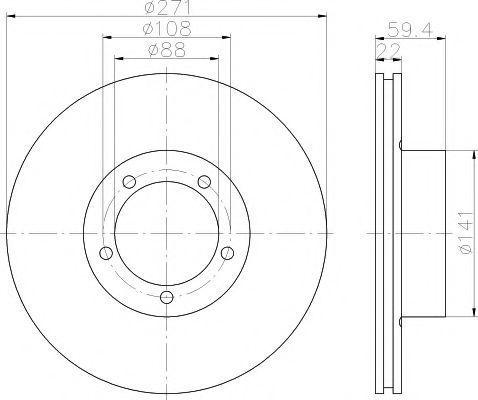 Тормозной диск TEXTAR 92005700