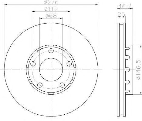 Диск тормозной TEXTAR 92037200