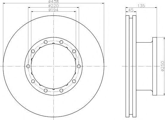 Тормозной диск TEXTAR 93117800