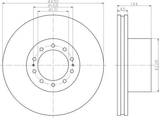 Тормозной диск TEXTAR 93186700