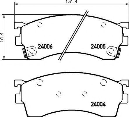 Комплект тормозных колодок, дисковый тормоз TEXTAR 2400501