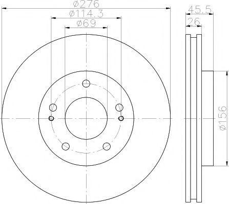 Диск тормозной TEXTAR 92198203