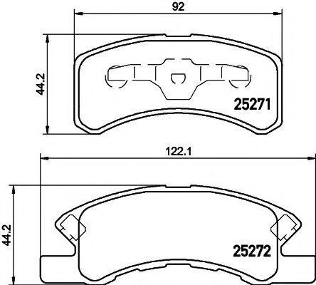 Комплект тормозных колодок, дисковый тормоз TEXTAR 2527101