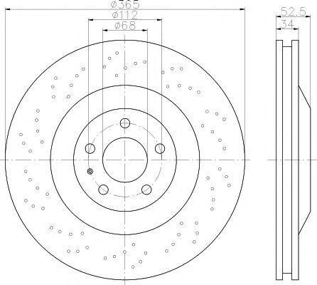 Тормозной диск TEXTAR 92207110