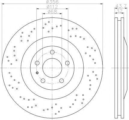 Тормозной диск TEXTAR 92207210