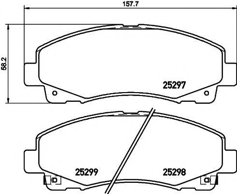 Колодки тормозные TEXTAR 2529701
