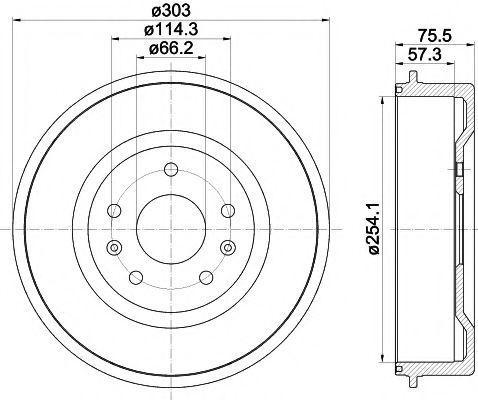 Барабан тормозной TEXTAR 94032800