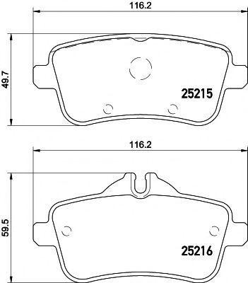 Колодки тормозные TEXTAR 2521501