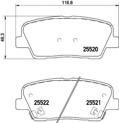 Колодки тормозные TEXTAR 2552001