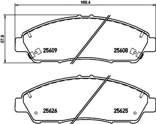 Колодки тормозные TEXTAR 2560801