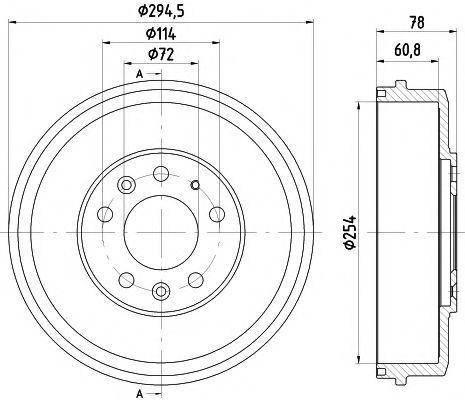 Тормозной барабан TEXTAR 94038300