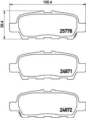 Колодки тормозные TEXTAR 2577801