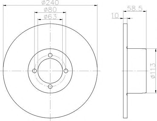 Тормозной диск TEXTAR 92001100