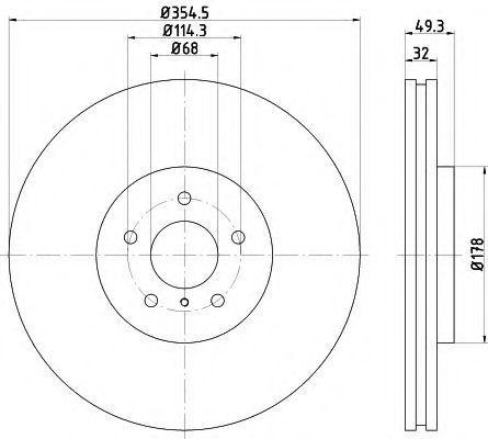 Диск тормозной TEXTAR 92199105