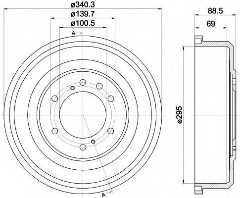 Тормозной барабан TEXTAR 94036700