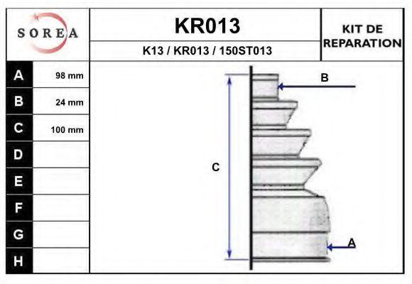 Комплект пылника, приводной вал EAI KR013