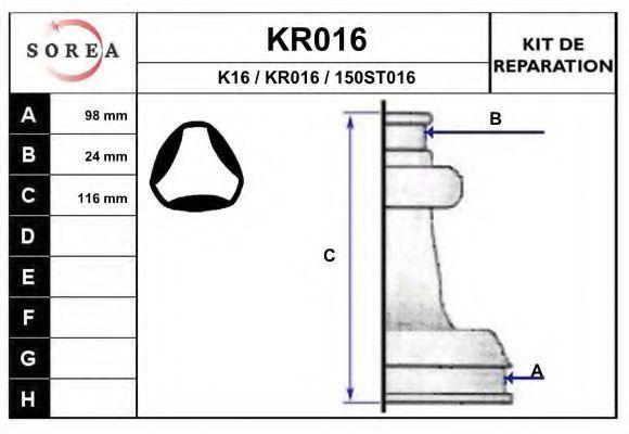 Комплект пылника, приводной вал EAI KR016