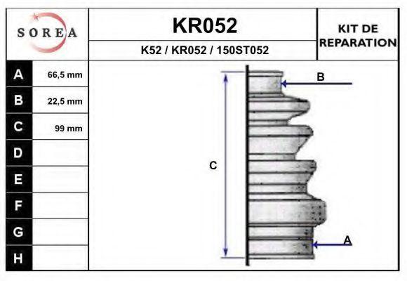 Комплект пылника, приводной вал EAI KR052