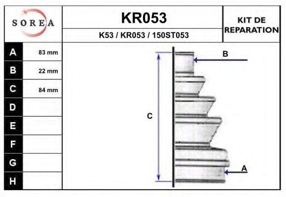 Комплект пылника, приводной вал EAI KR053