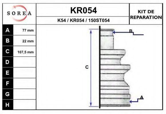 Комплект пылника, приводной вал EAI KR054