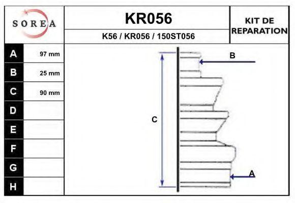 Комплект пылника, приводной вал EAI KR056