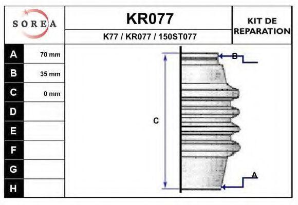 Комплект пылника, приводной вал EAI KR077