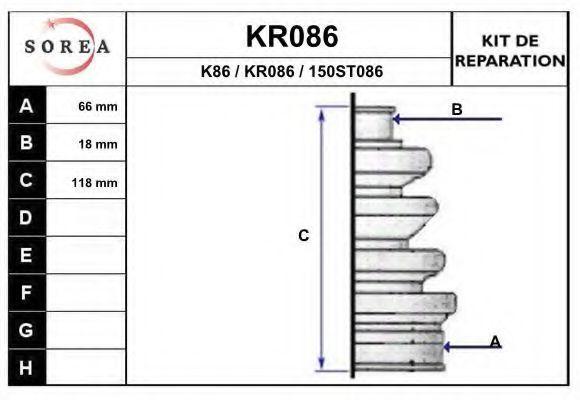 Комплект пылника, приводной вал EAI KR086