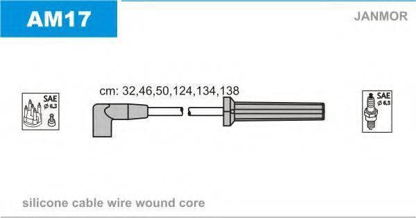 Комплект проводов зажигания JANMOR AM17