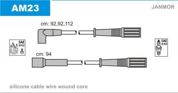 Комплект проводов зажигания JANMOR AM23