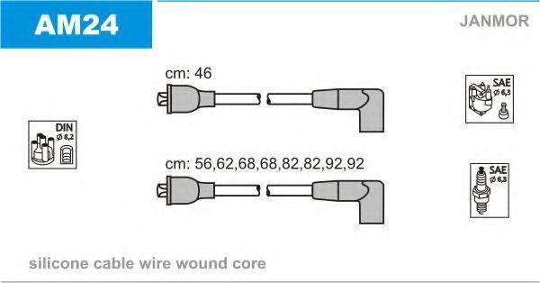 Комплект проводов зажигания JANMOR AM24