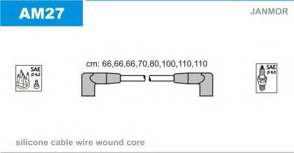 Комплект проводов зажигания JANMOR AM27