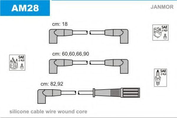 Комплект проводов зажигания JANMOR AM28