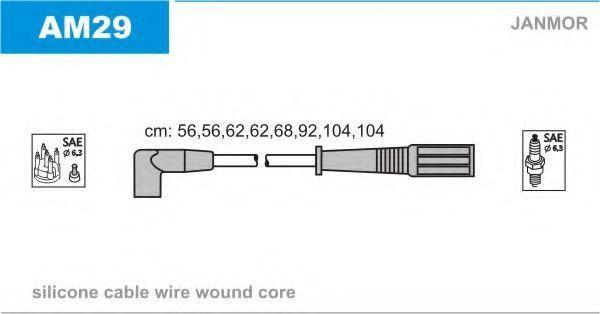 Комплект проводов зажигания JANMOR AM29