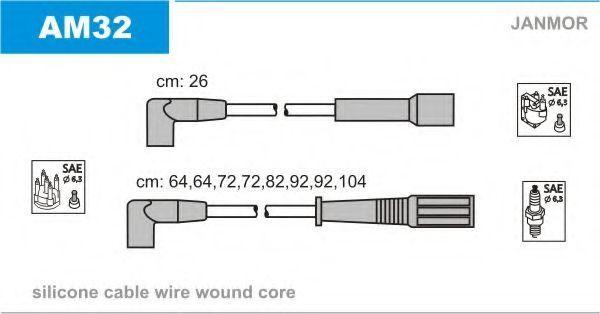 Комплект проводов зажигания JANMOR AM32