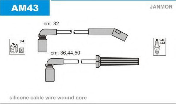 Провода высоковольтные комплект JANMOR AM43